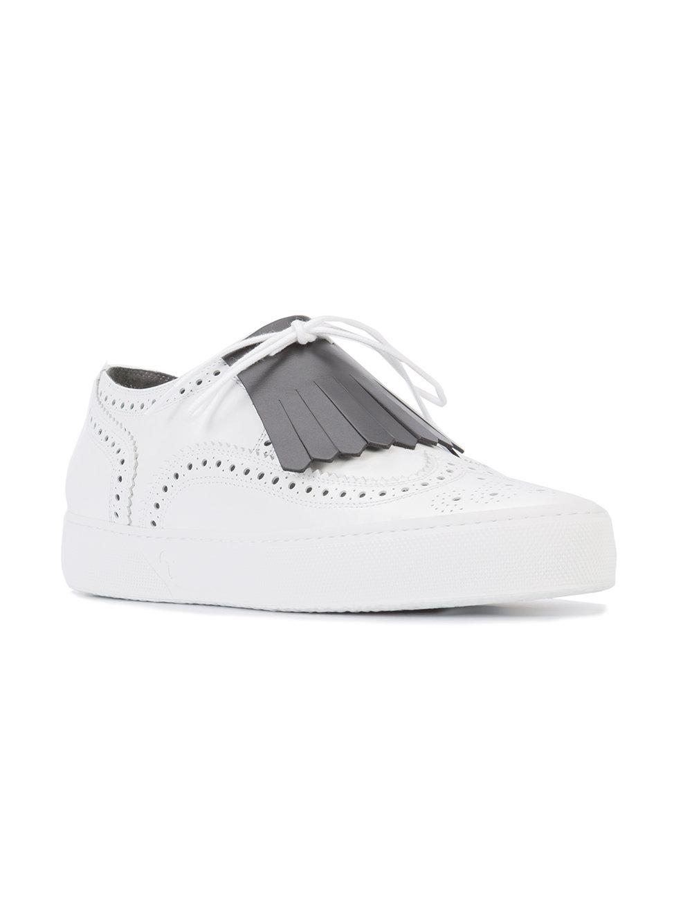 Robert Clergerie Leather Tolka Sneakers in White