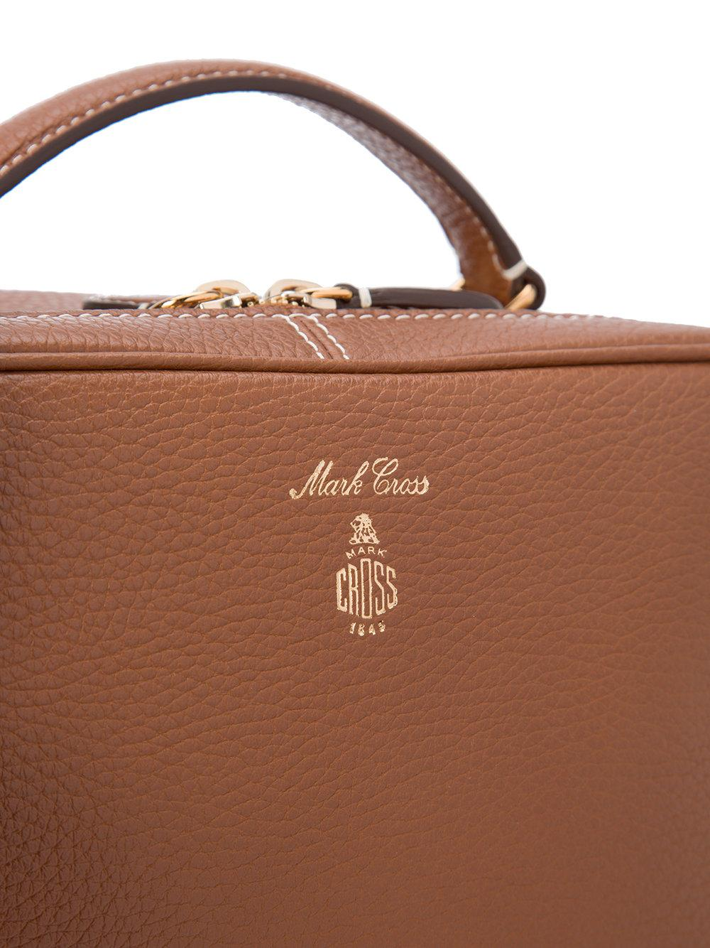 Mark Cross Leather Laura Crossbody Bag in Brown