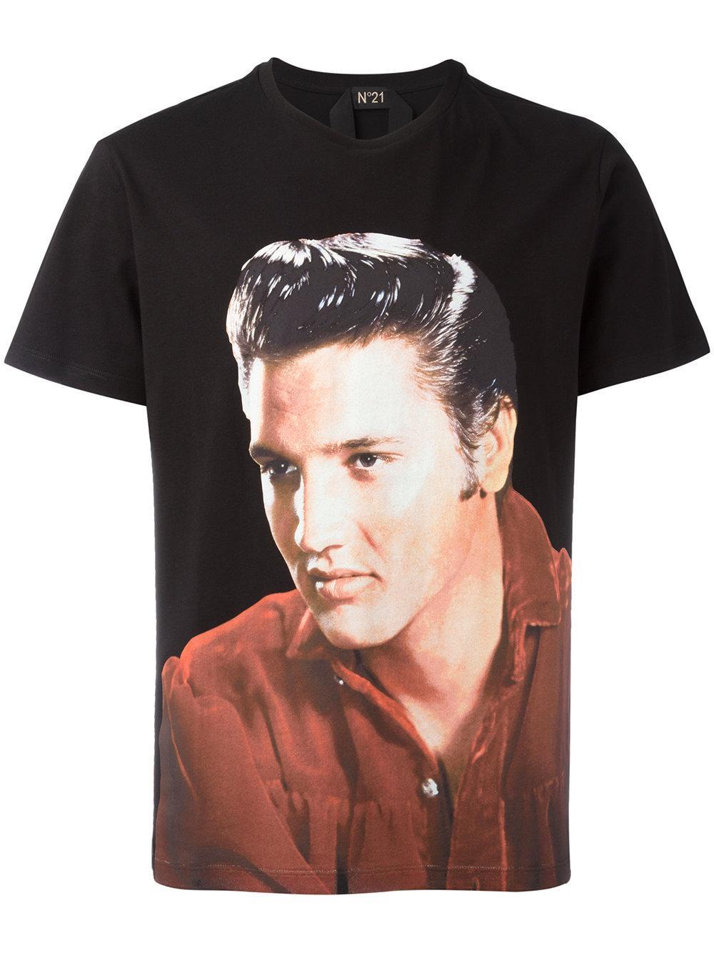 N 21 elvis t shirt in black for men lyst for Elvis t shirts for men