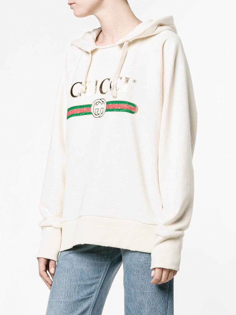 Lyst Gucci Fake Embroidered Hoodie
