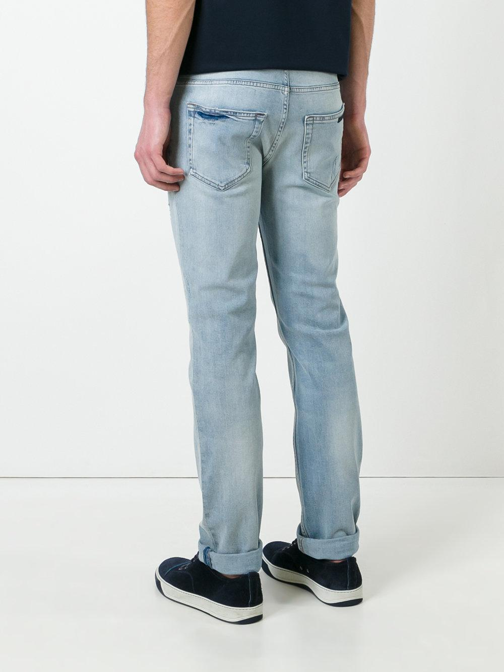 Prada Denim - Stonewashed Slim-fit Jeans - Men - Cotton/spandex/elastane - 35 in Blue for Men