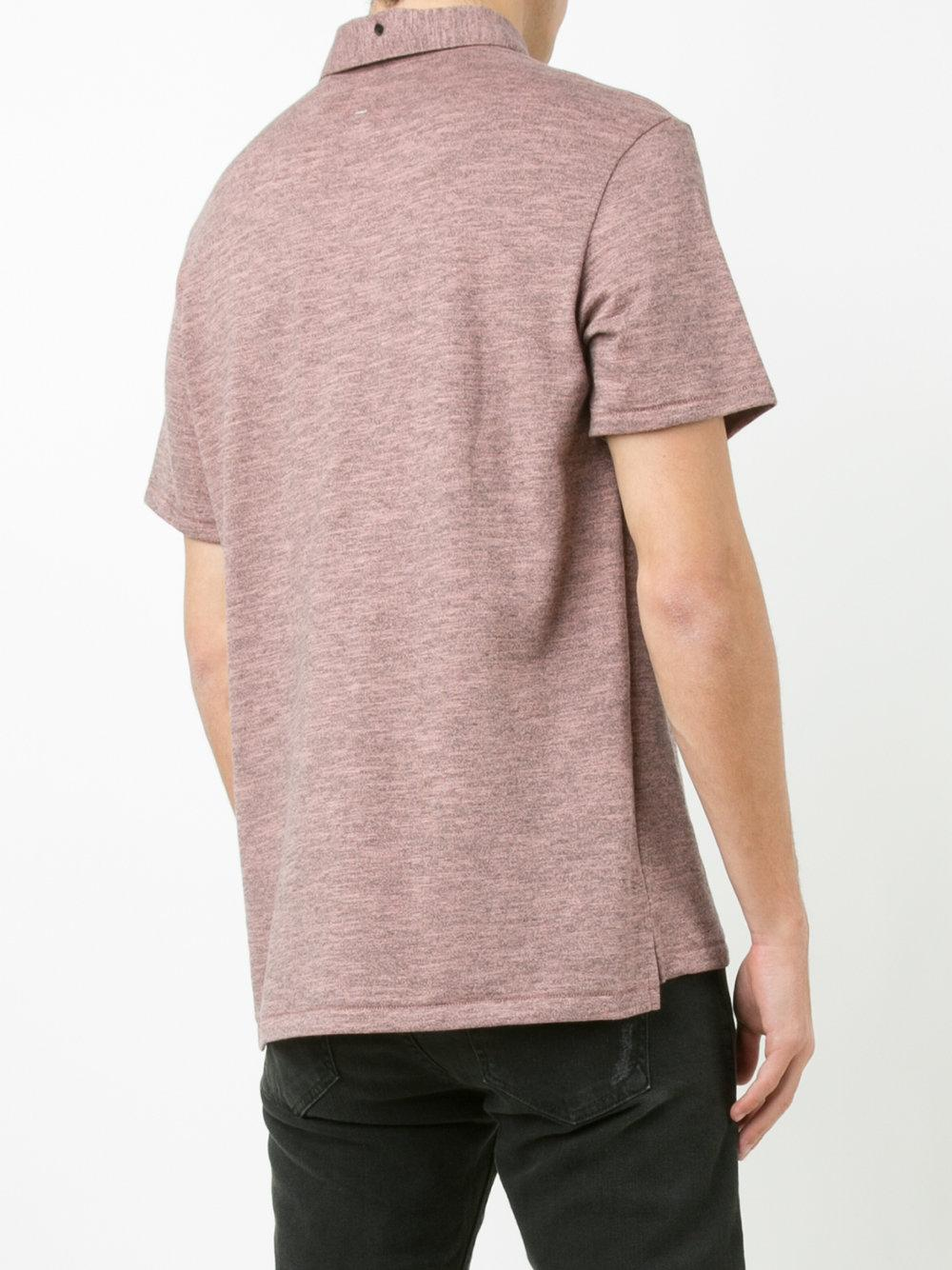 Rag Bone Standard Issue Polo Shirt In Red For Men Lyst