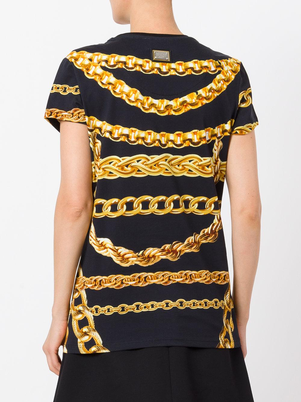 Philipp Plein Chain Print T Shirt In Black Lyst