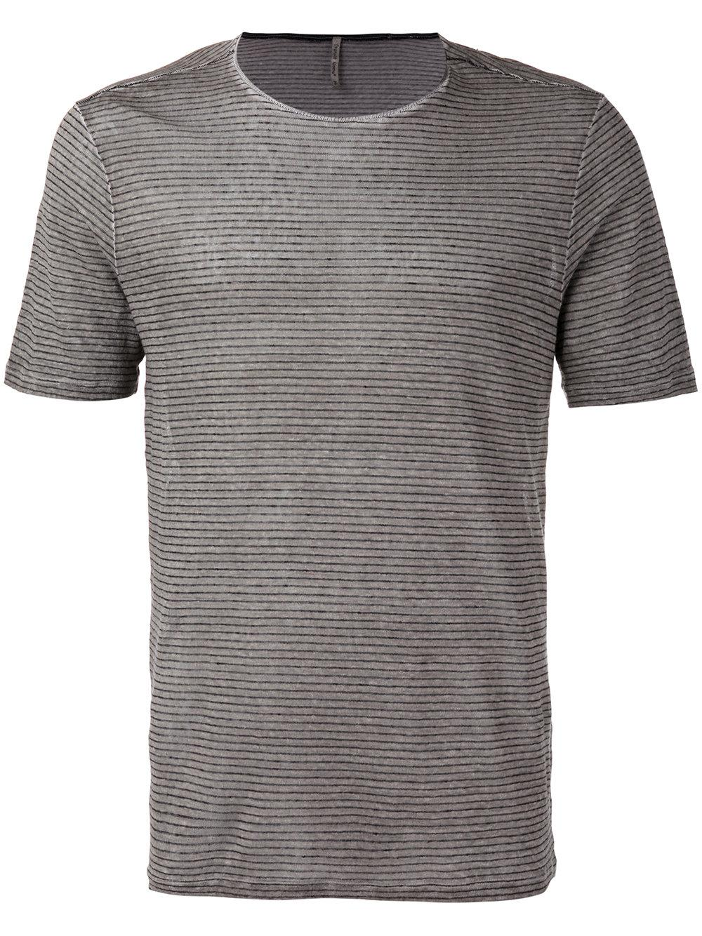 Transit striped t shirt in grey for men lyst for Grey striped t shirt