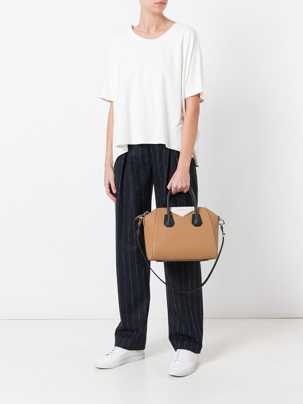 Givenchy Small Antigona Tote Bag in Brown