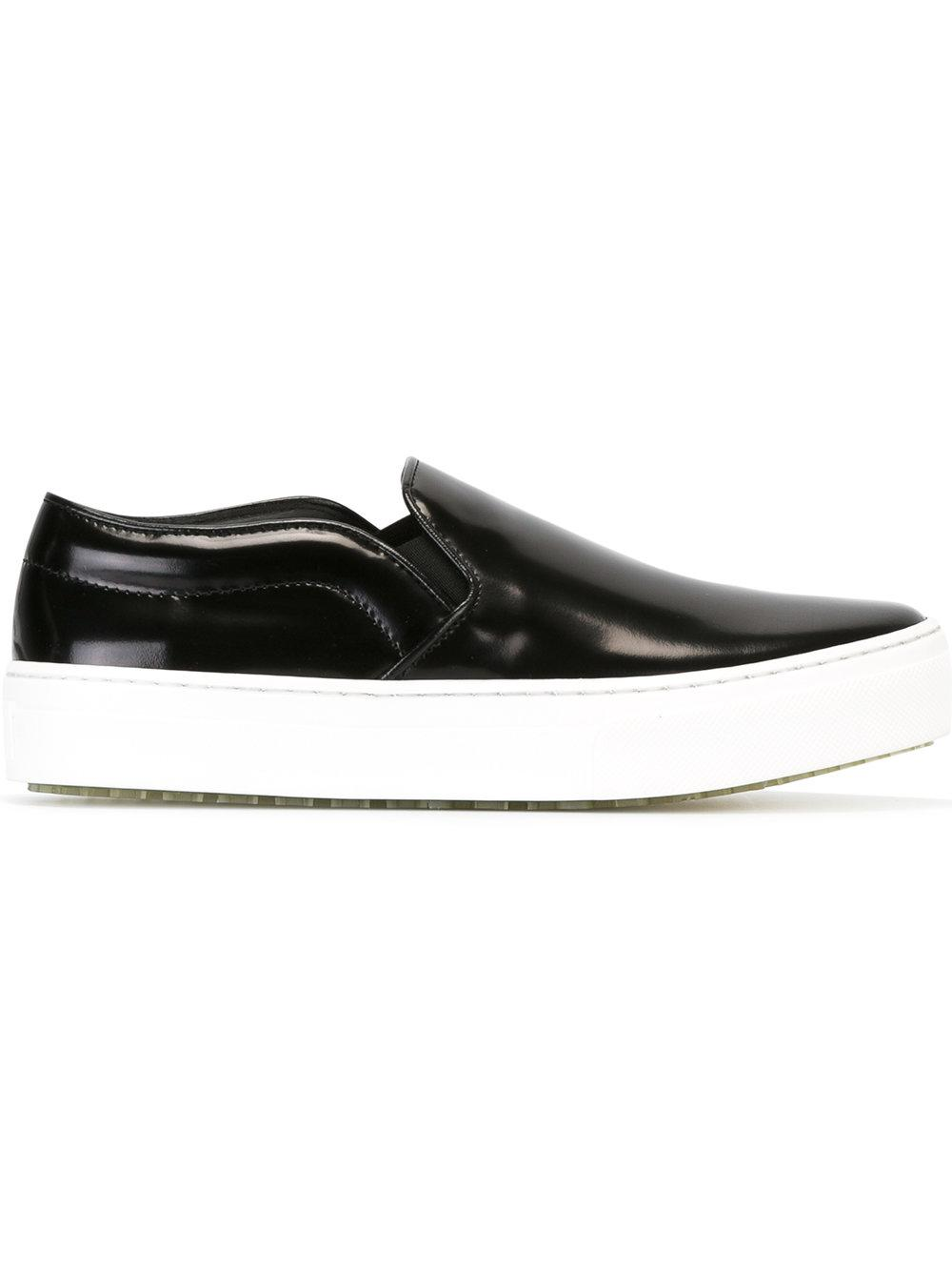 Lyst C 233 Line Slip On Sneakers Women Leather Rubber