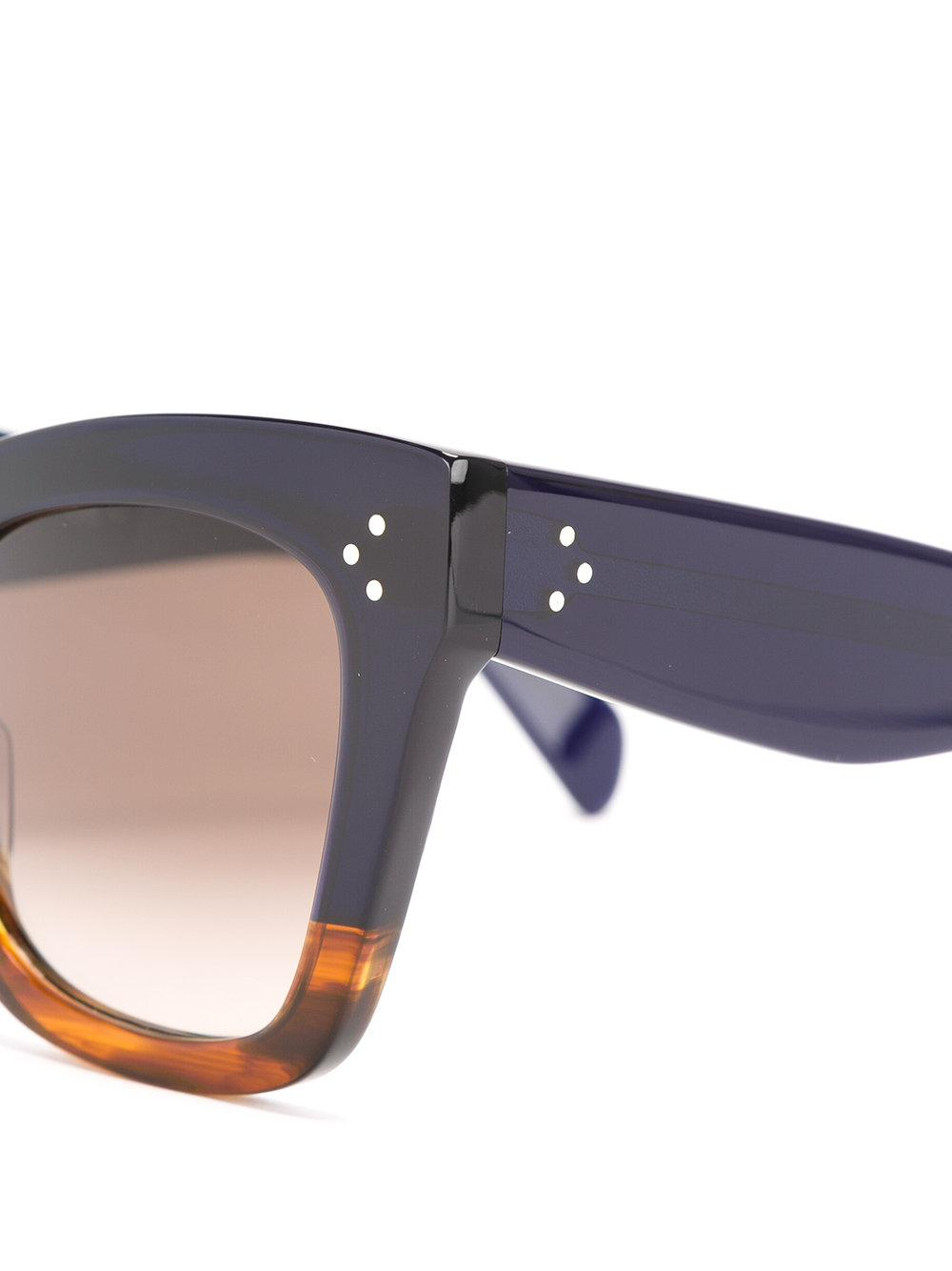 Celine - Oversized Sunglasses - Women - Cellulose - 50 in Black