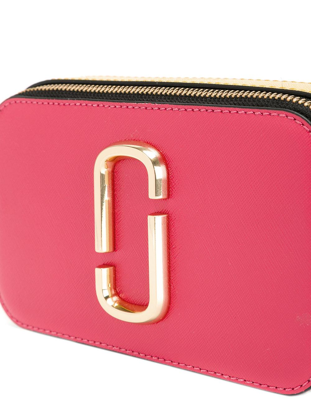 Marc Jacobs Leather Rainbow Strap Shoulder Bag In Pink
