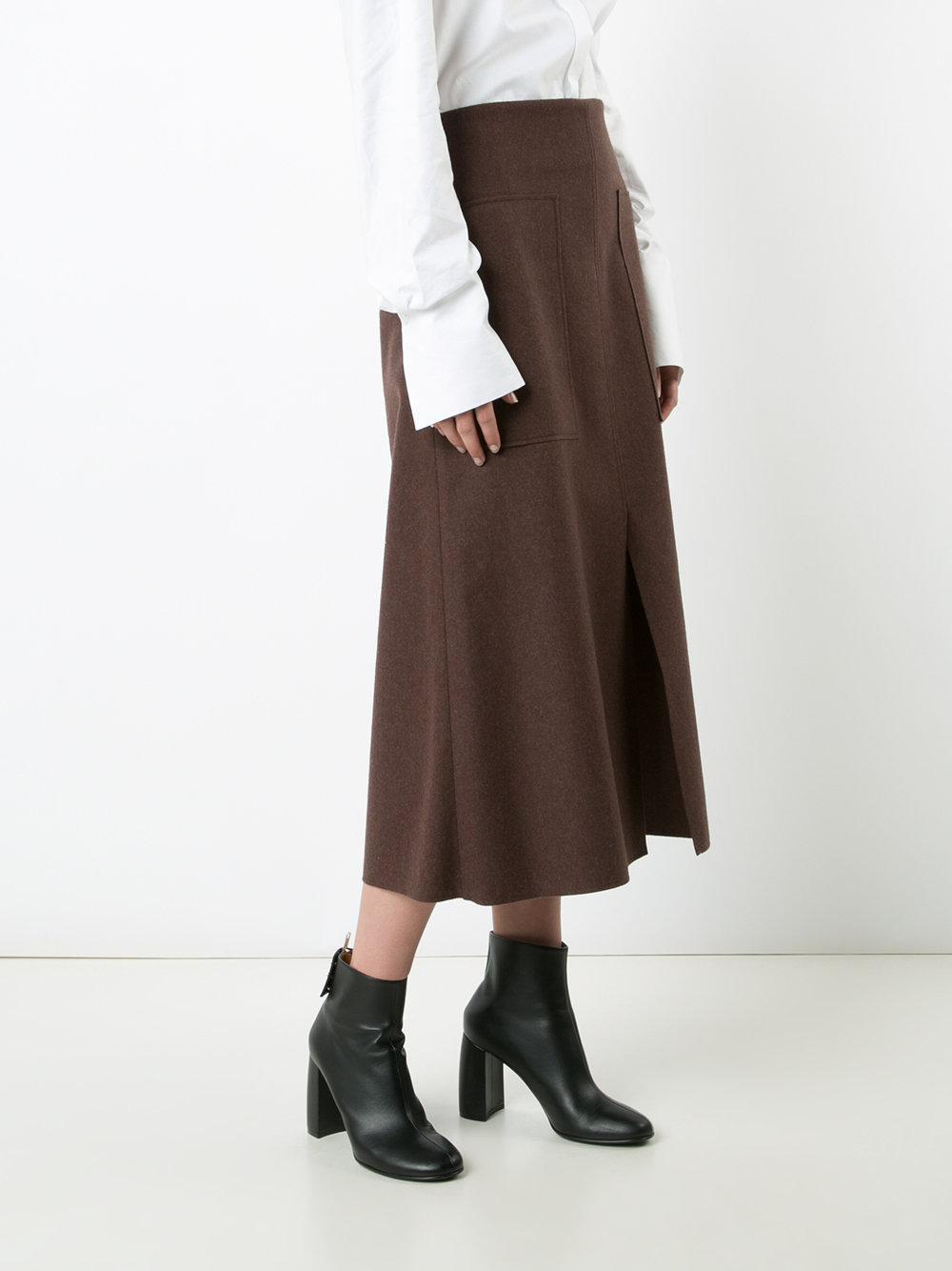 Brown Straight Skirt 98