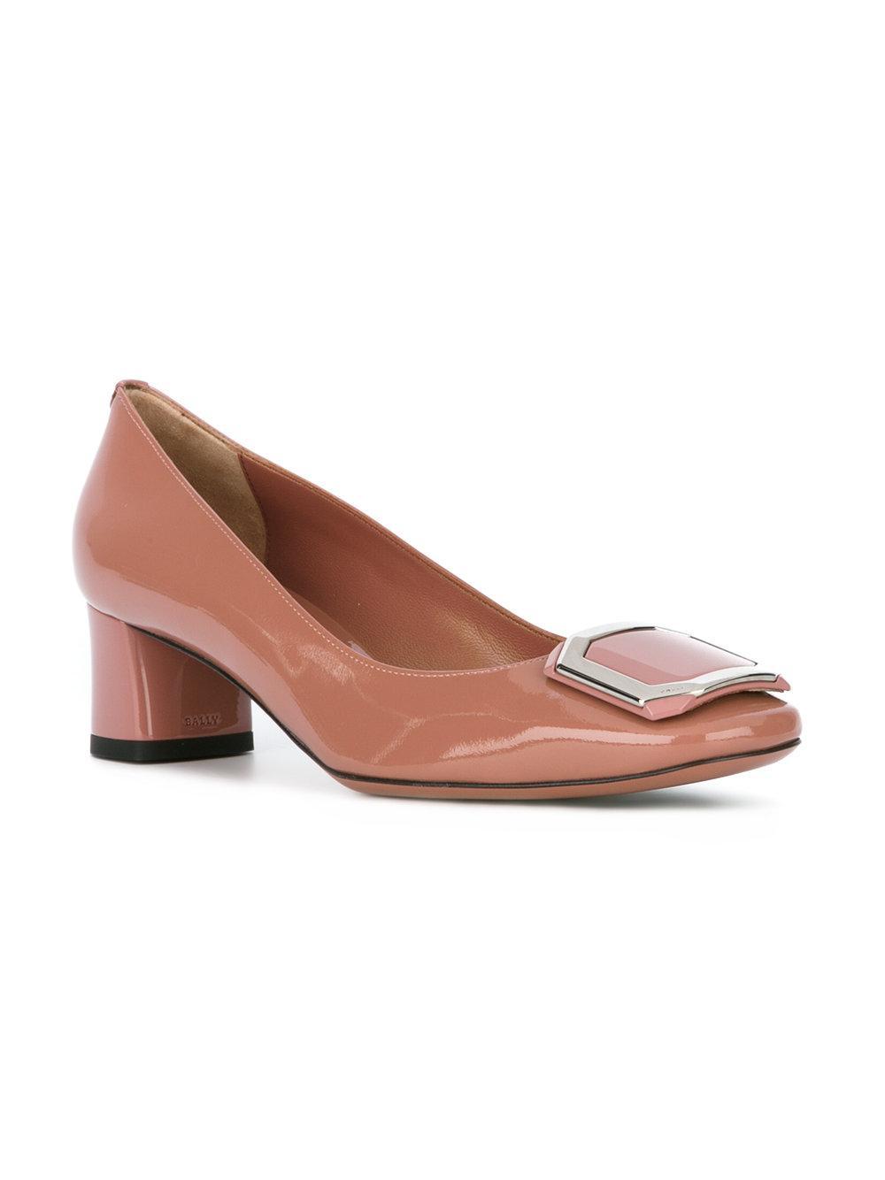 Purple High Heel Court Shoes
