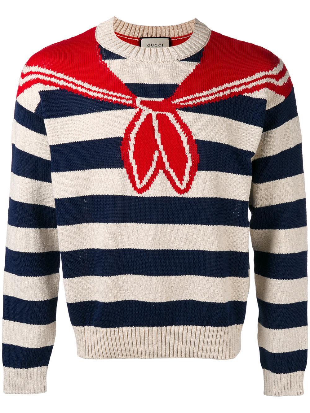 Lyst - Gucci Bandana Tromp Loeil Sweater In Blue For Men-2410