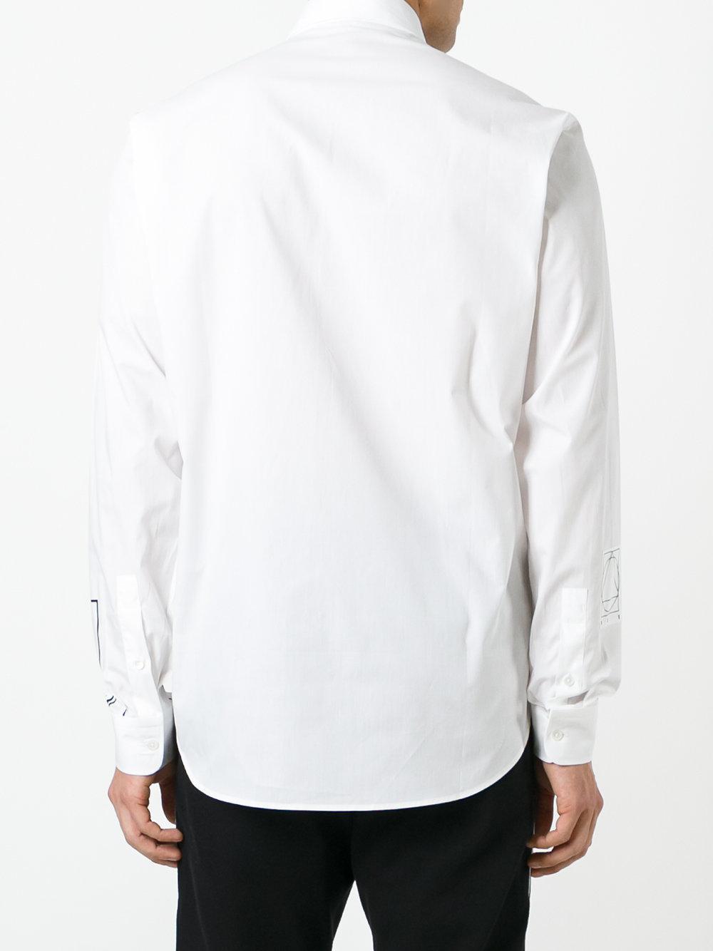 McQ Cotton Optic White Shirt for Men