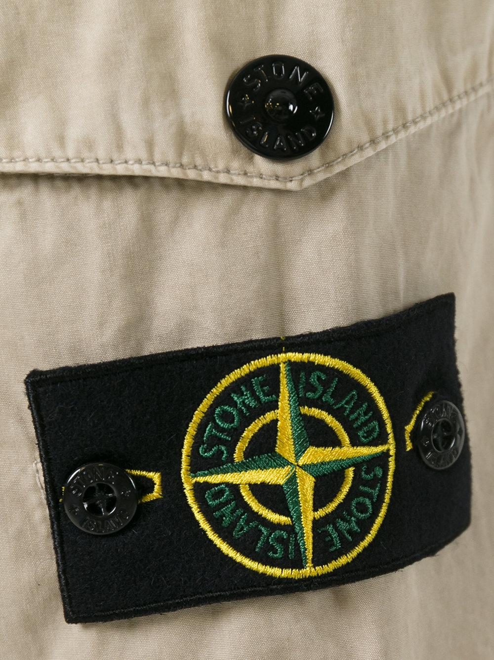Stone Island Cotton Cargo Trousers in Natural for Men