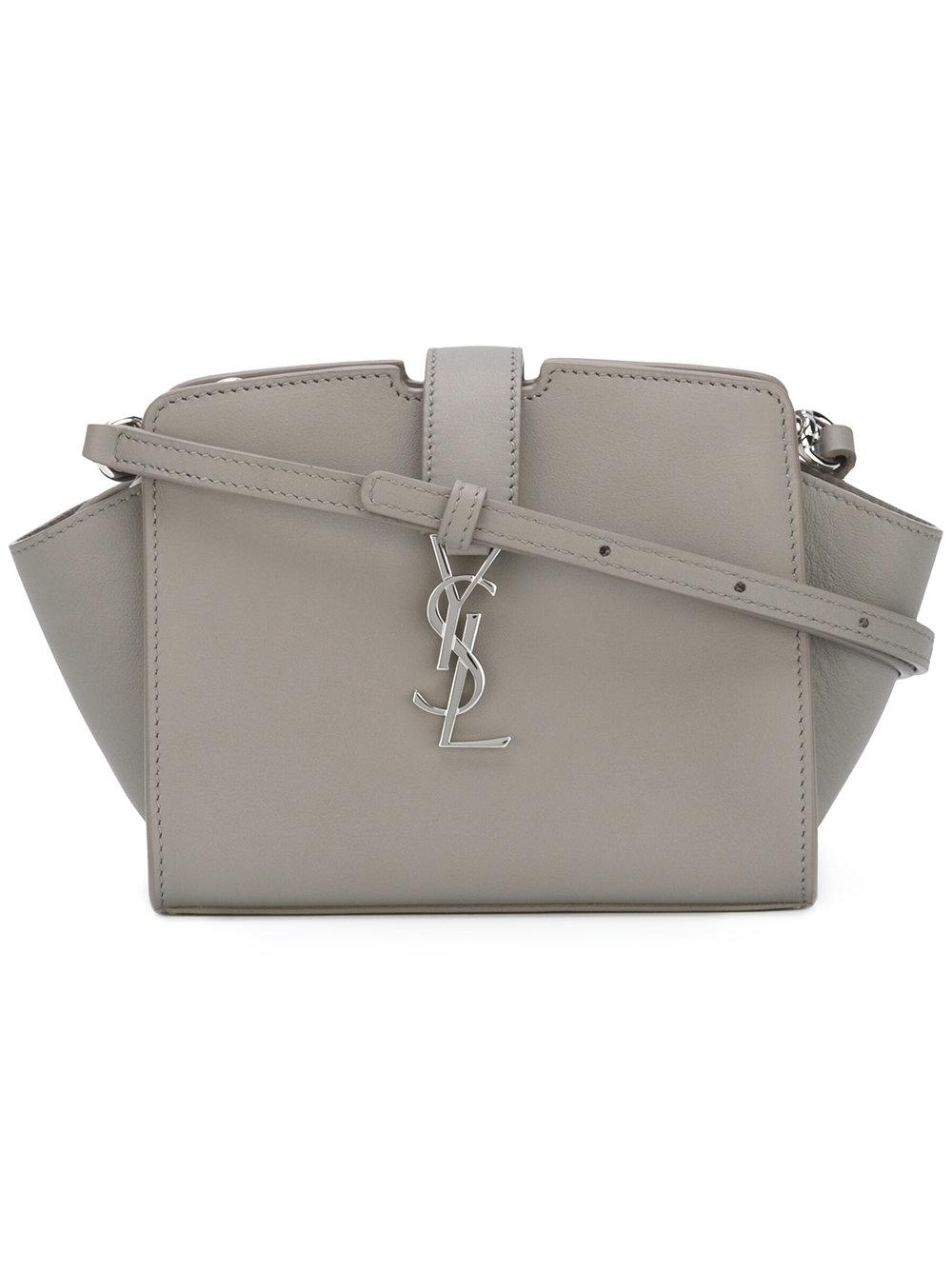 Saint Laurent Toy Ysl Cabas Crossbody Bag In Gray Lyst