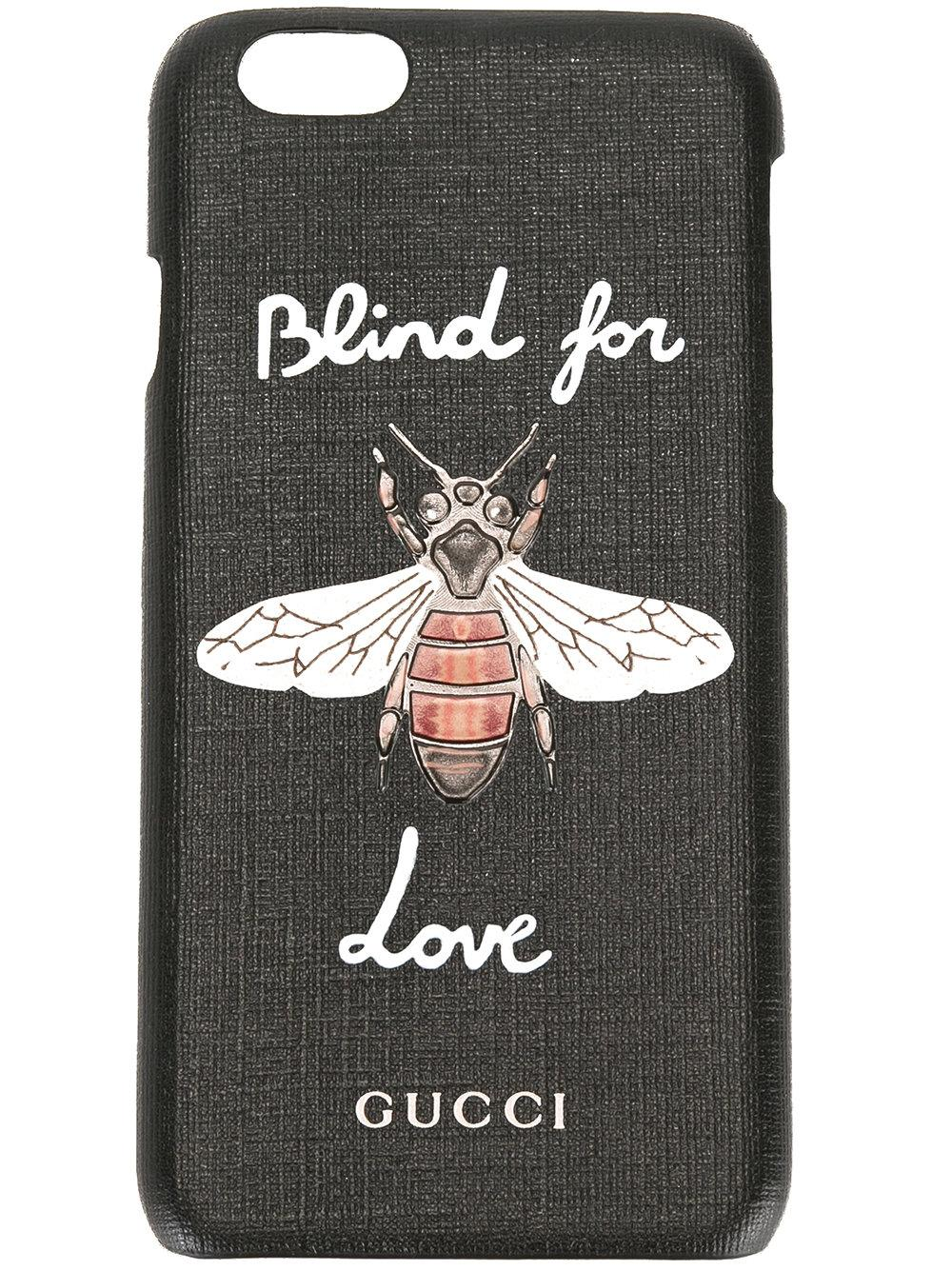 premium selection a1c84 59a40 Gucci Blind For Love Iphone 6s Case in Black - Lyst