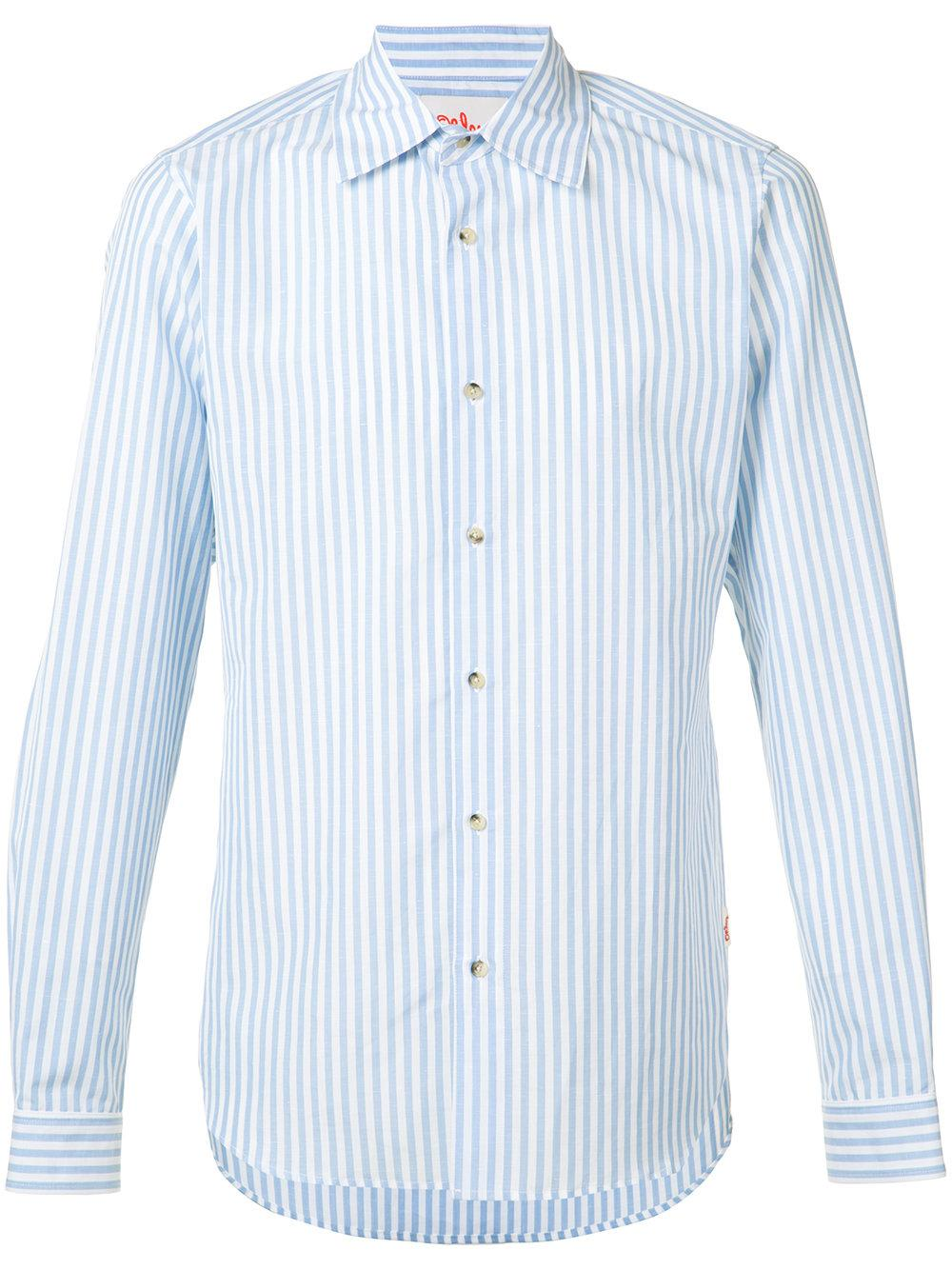 Orley Striped Shirt In Blue For Men Lyst