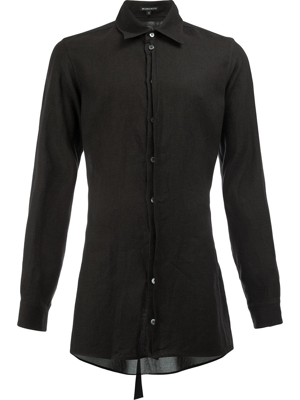 Ann Demeulemeester Super Slim Fit Shirt In Black For Men