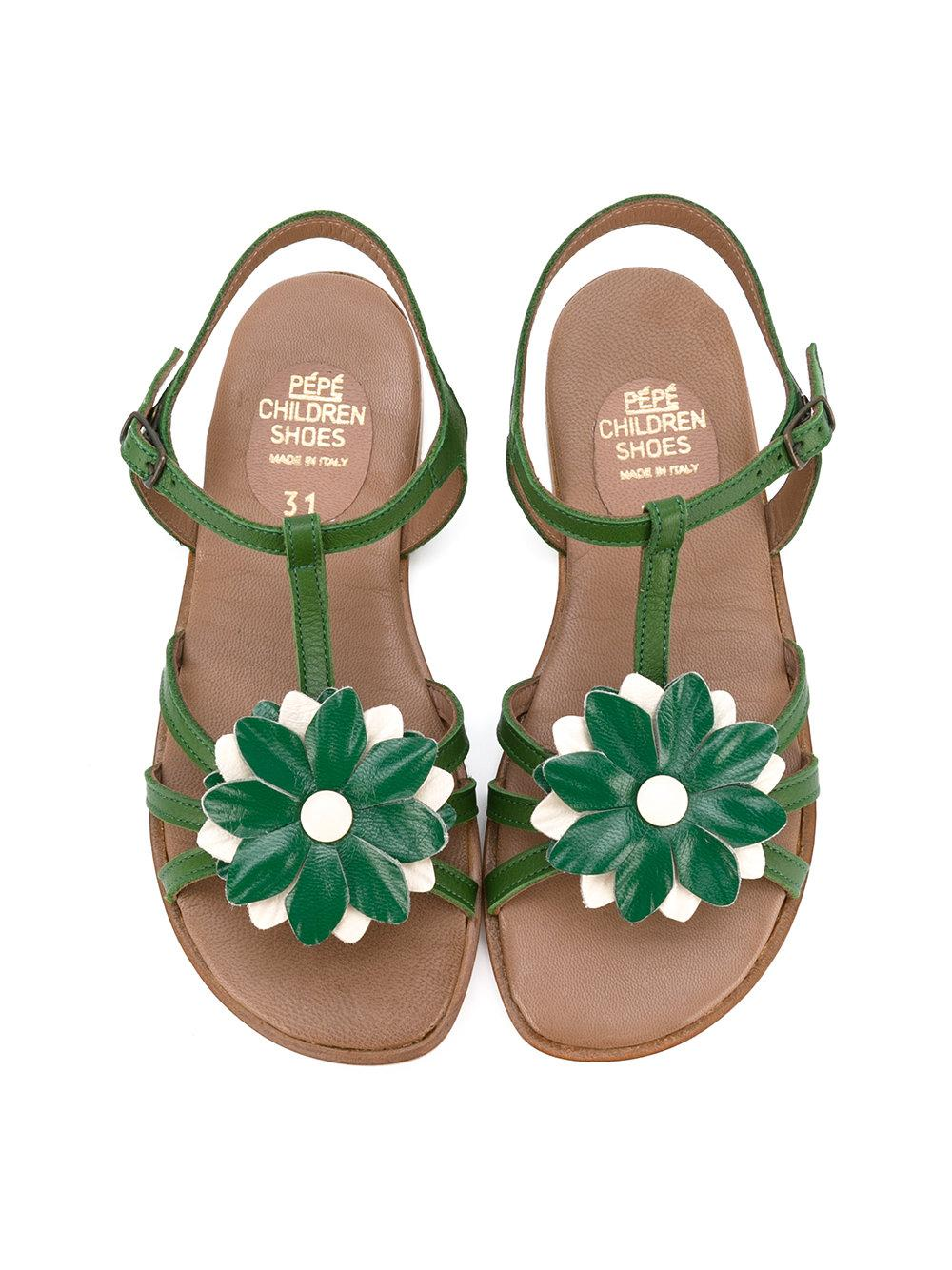 Pepe Jeans Floral Sandals In Green Lyst