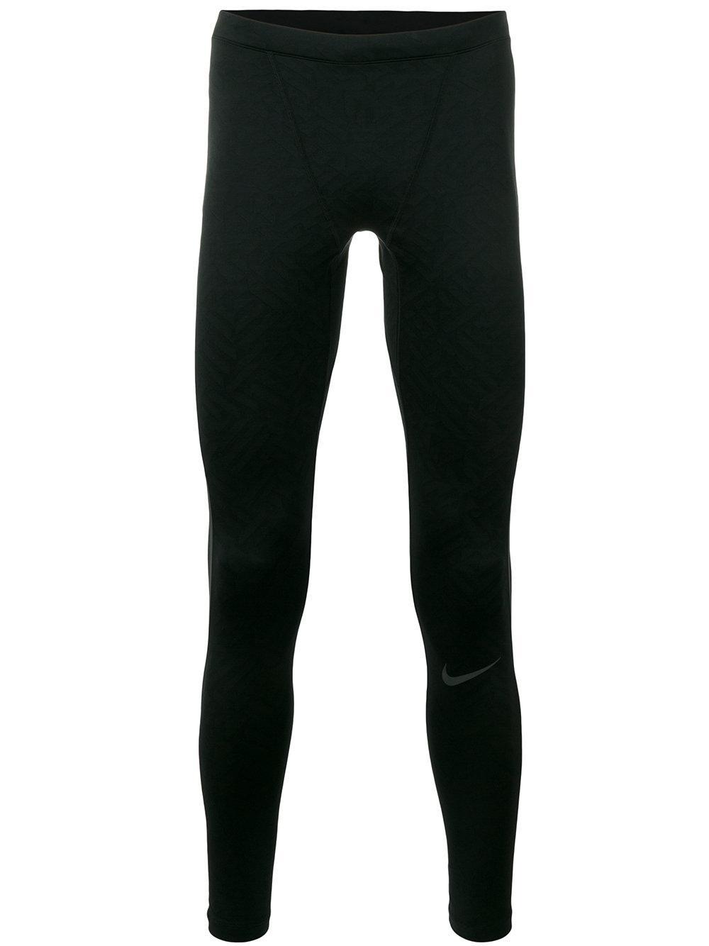 Nike Power City Running Leggings In Black For Men   Lyst