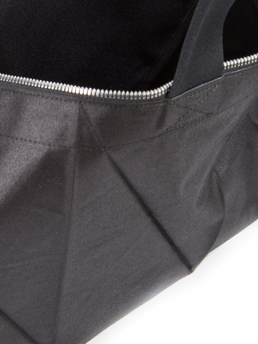 Issey Miyake Canvas Glossy Origami Structured Tote in Black