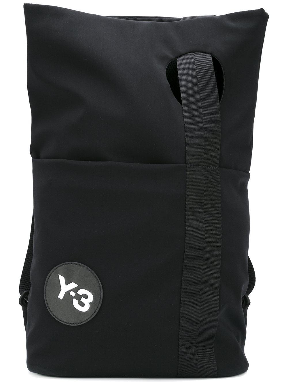 ee05ba309664 Lyst - Y-3 Logo Patch Backpack in Black for Men