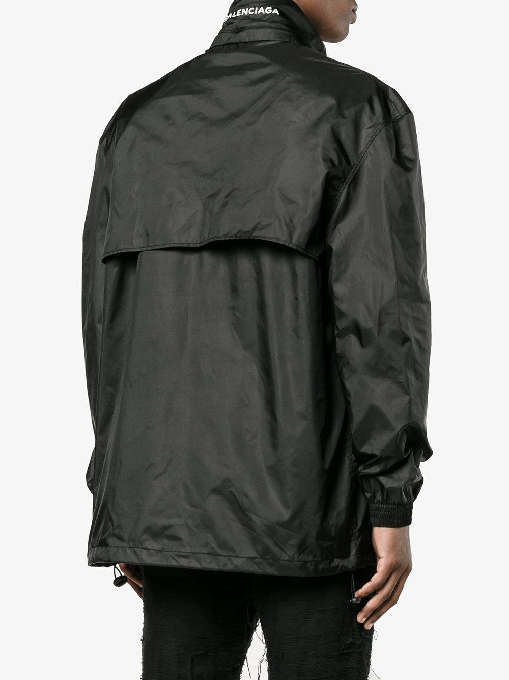 Lyst Balenciaga Logo Windbreaker Jacket Men
