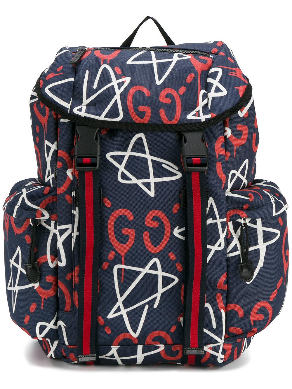 Gucci Ghost Canvas Techpack In Blue For Men Lyst