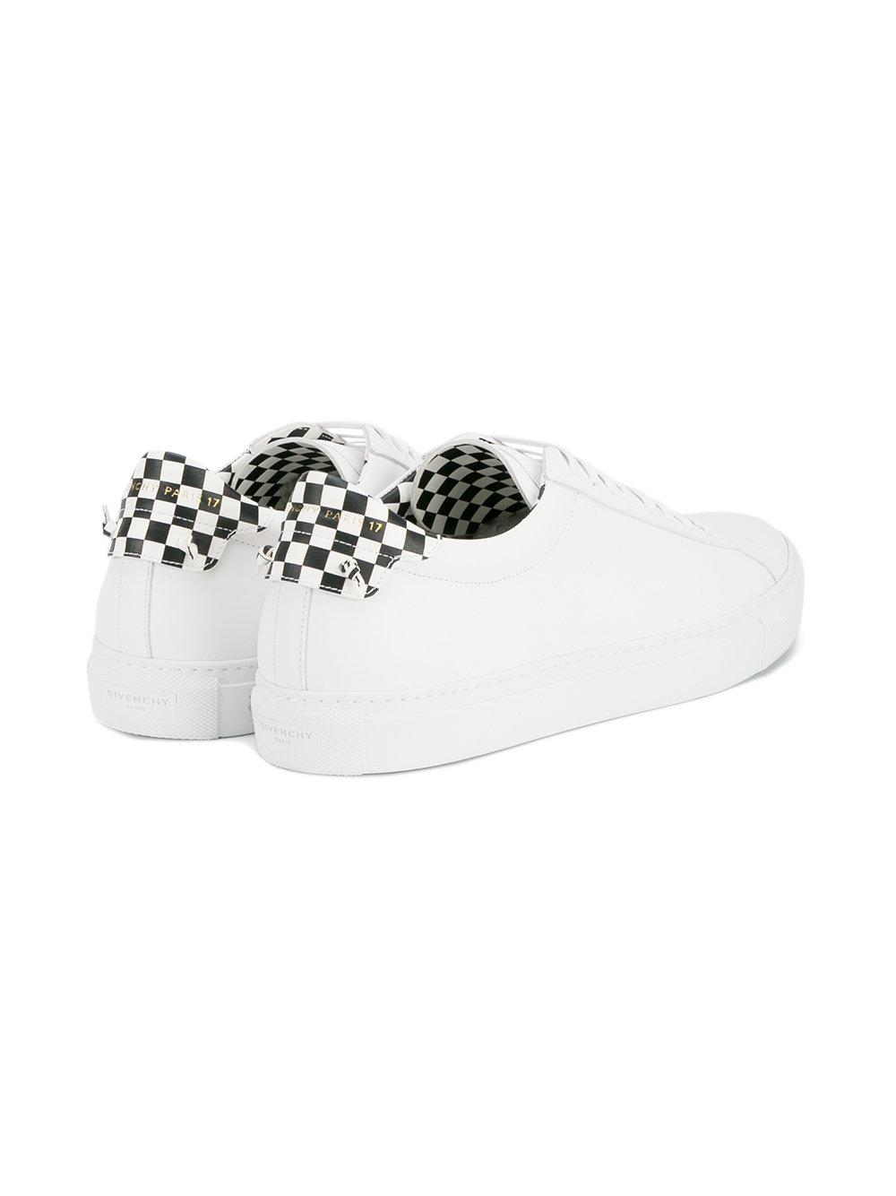 Givenchy Leather Urban Knots Checkerboard Sneakers in White