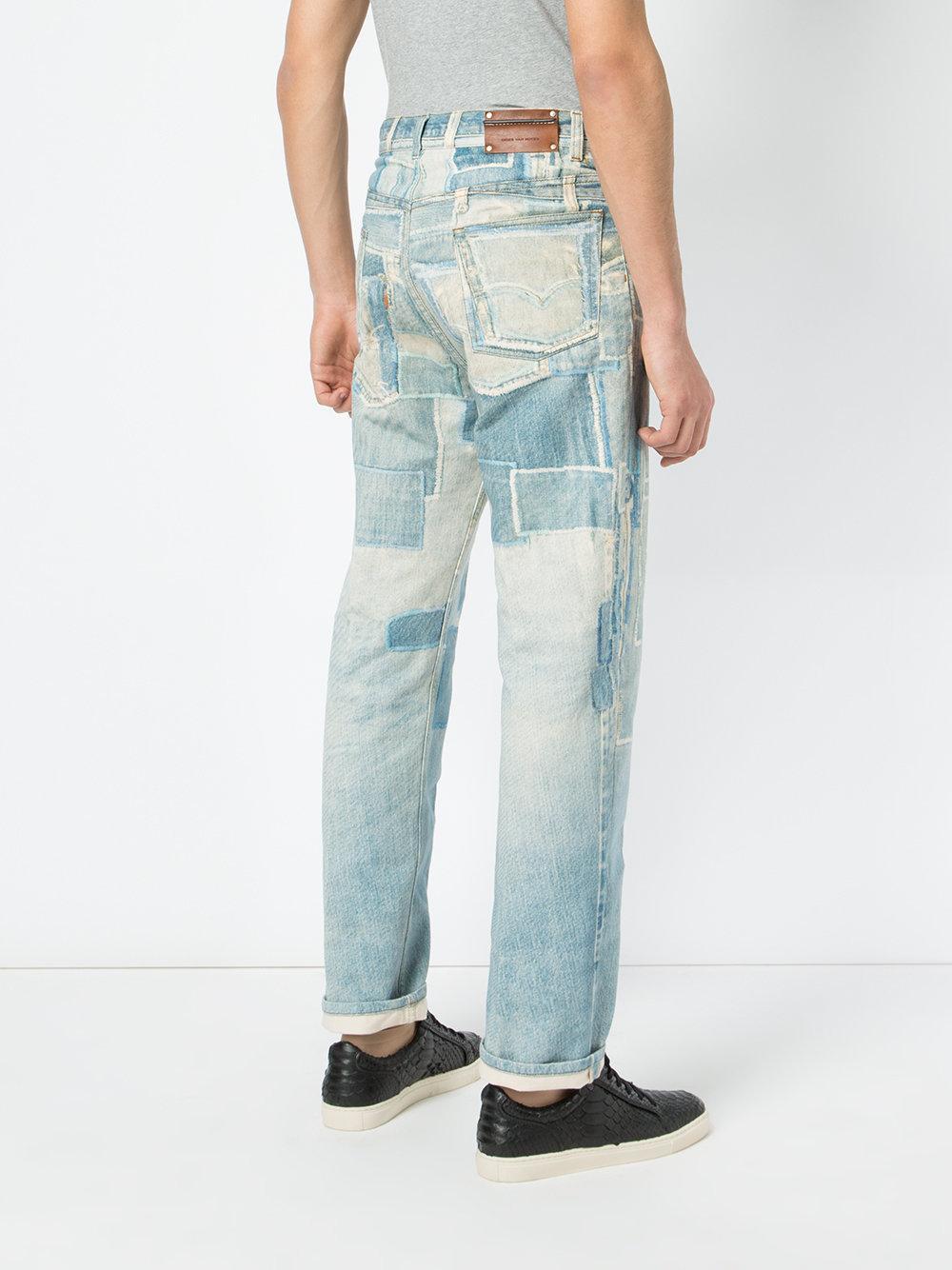 Dries Van Noten Denim - Patchwork Print Jeans - Men - Cotton - 34 in Blue for Men