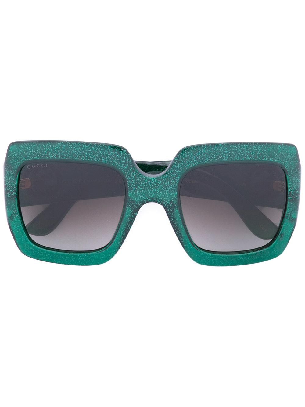 Gucci Oversize Square Frame Sunglasses in Green Lyst