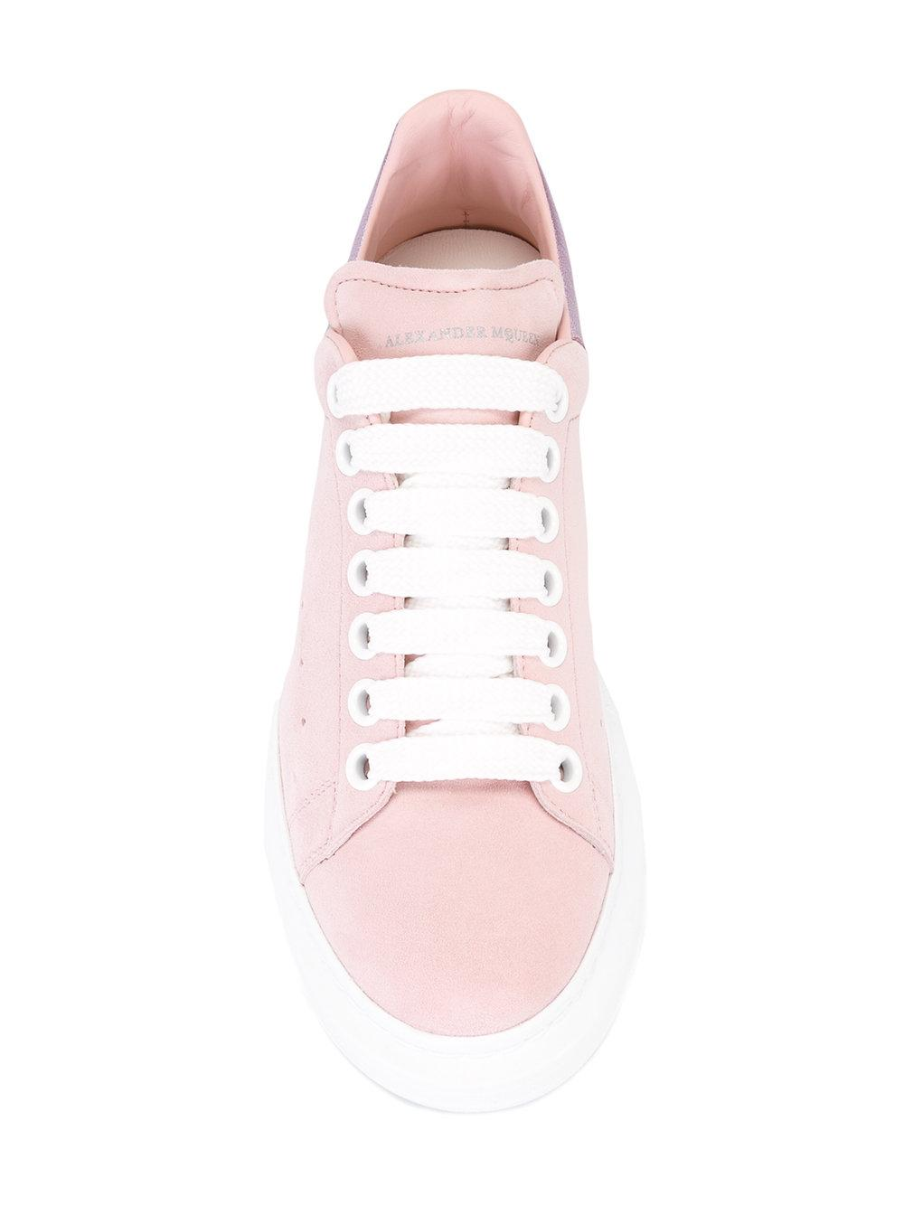Alexander McQueen Leather Lace-up Sneakers in Pink/Purple (Pink)