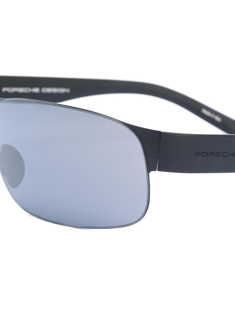 Porsche Design Square Sunglasses in Black for Men