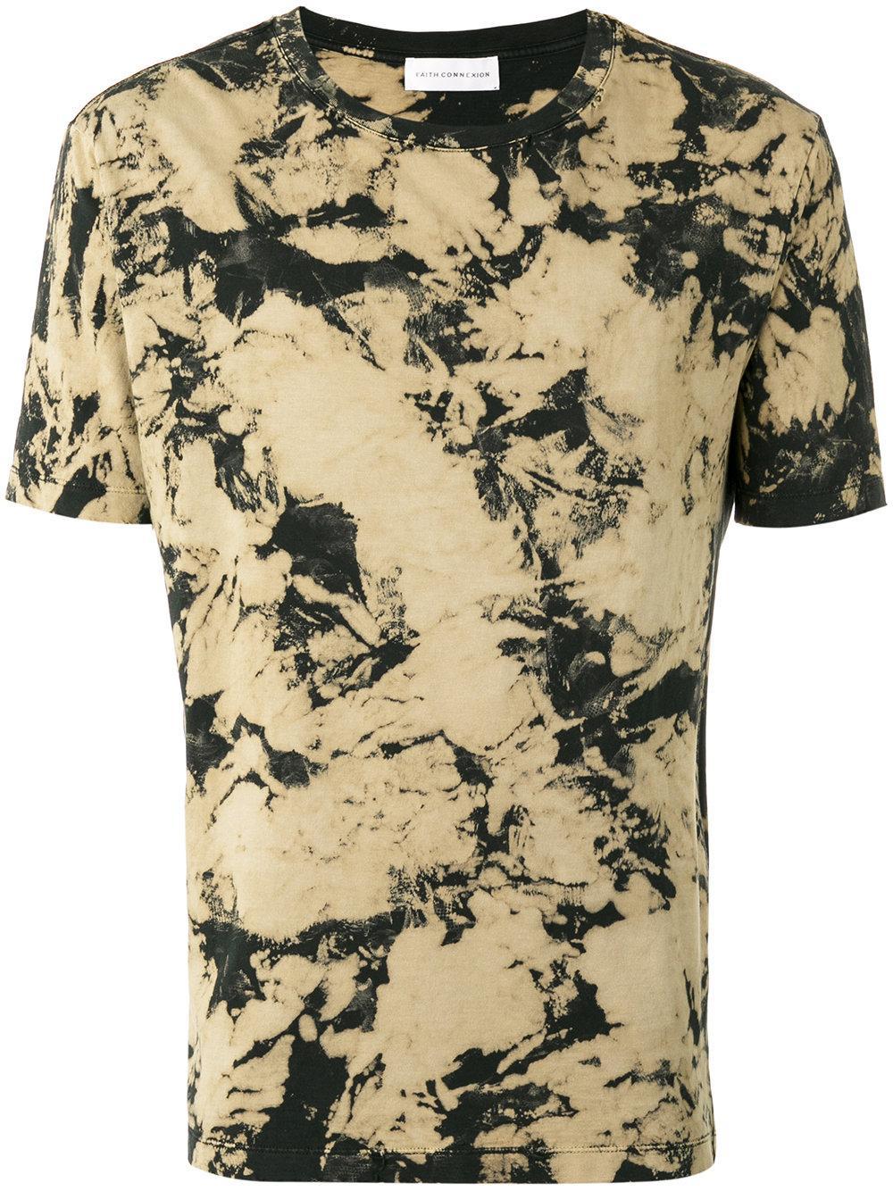 Faith connexion tie dye print t shirt unisex cotton for Tie dye printed shirts