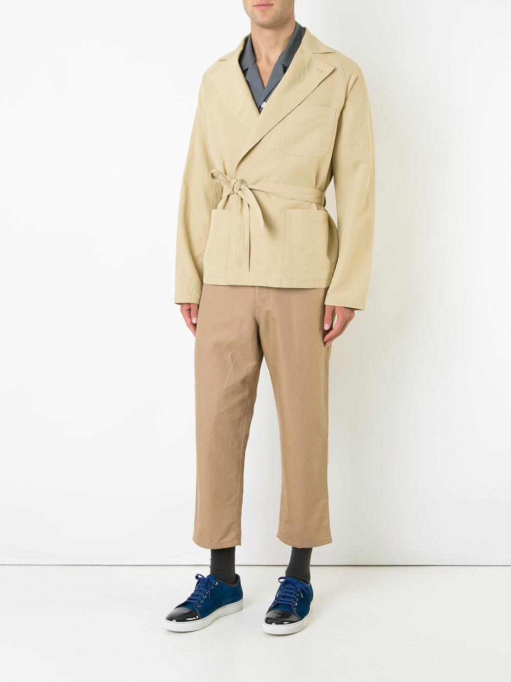 AURALEE Drawstring Jacket in Yellow/Orange (Natural) for Men