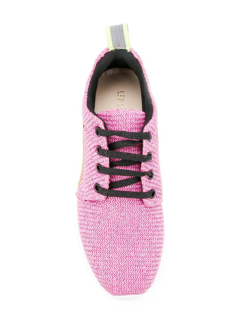 Leos Studio Design Cotton Running Sneakers in Pink/Purple (Pink)