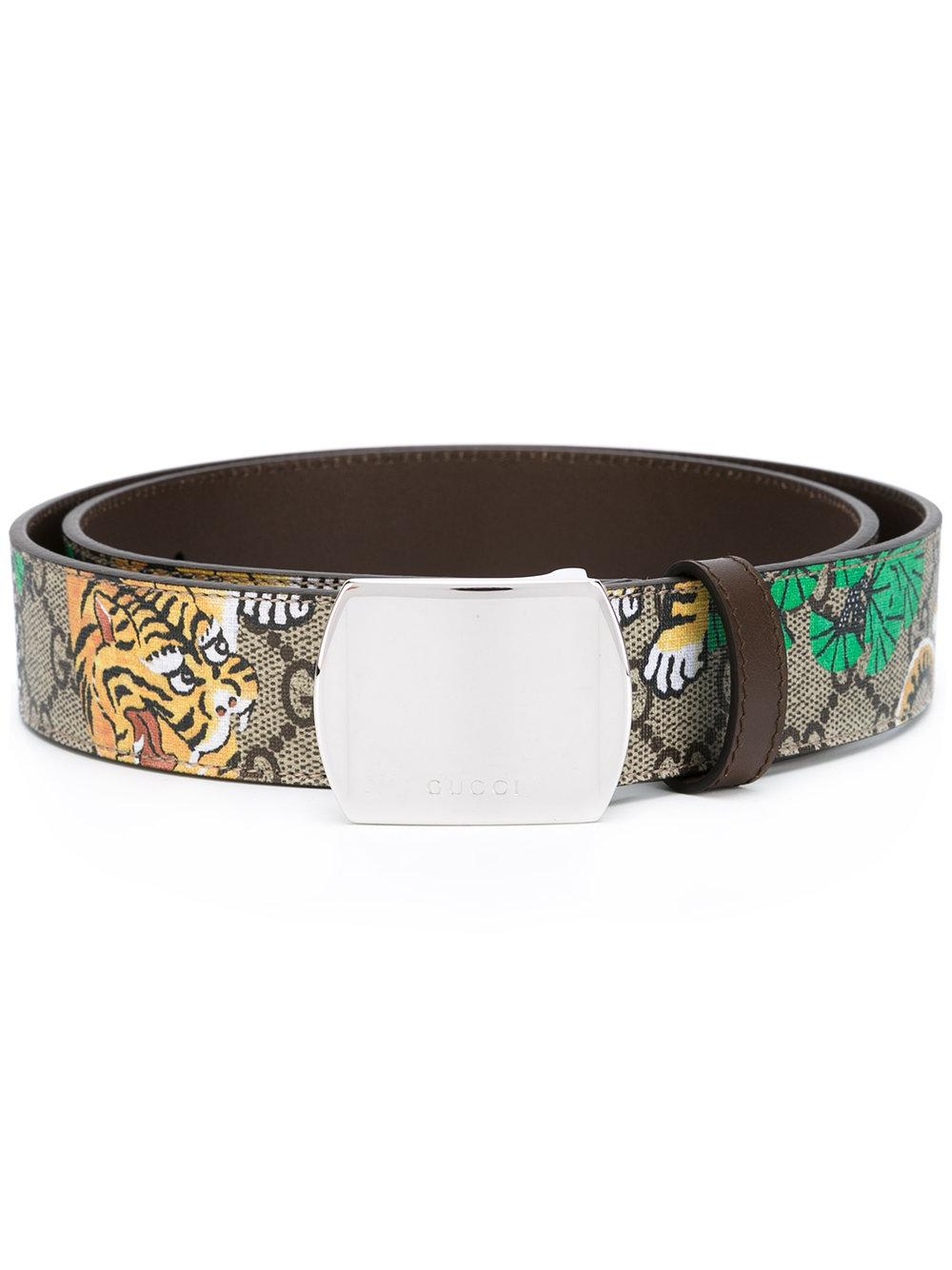 Lyst Gucci Bengal Tiger Print Belt In Brown For Men