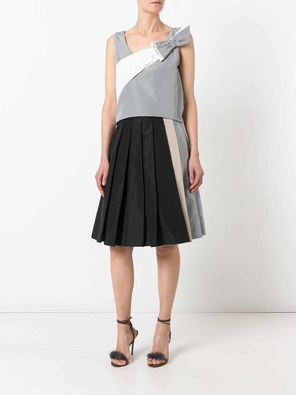 Prada - Midi Pleated Skirt - Women - Silk/cupro - 38 in Black