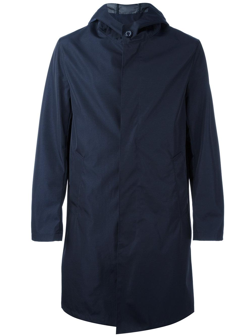 Lyst Mackintosh Hooded Trench Coat In Blue For Men