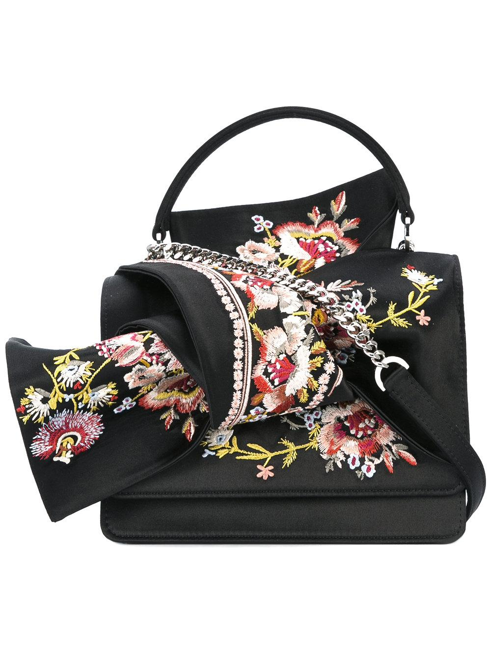 Nu00b021 Floral Embroidery Tote Bag In Black | Lyst