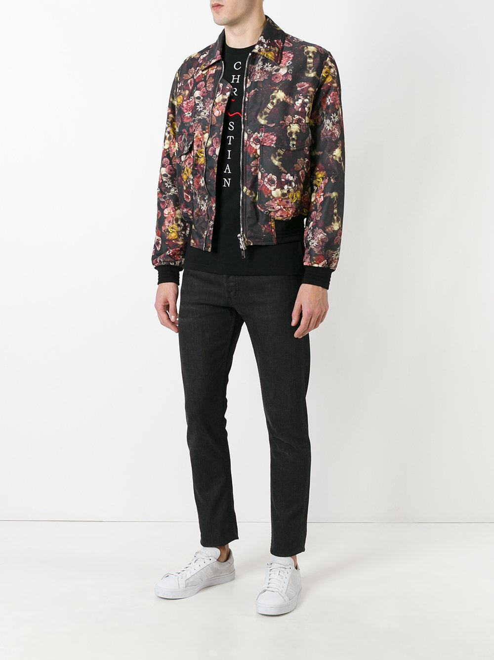 Lyst Dior Homme Floral Print Bomber Jacket For Men