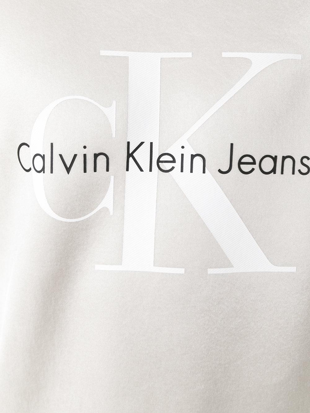 Lyst - Calvin Klein Jeans Neoprene Logo Sweatshirt In-5887
