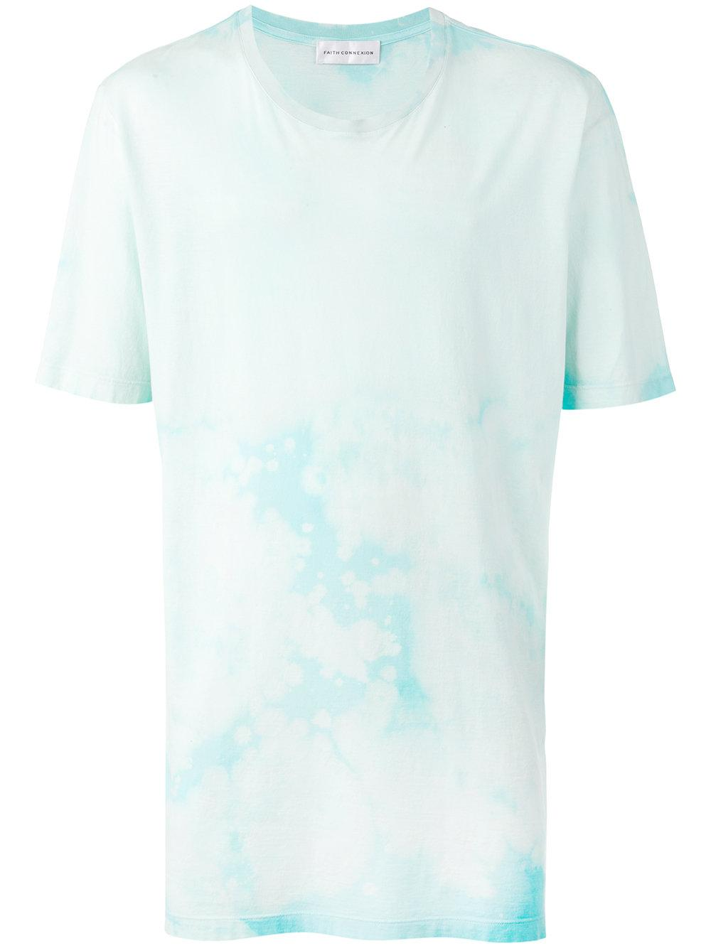 Faith connexion tie dye print t shirt in blue for men lyst for Tie dye printed shirts