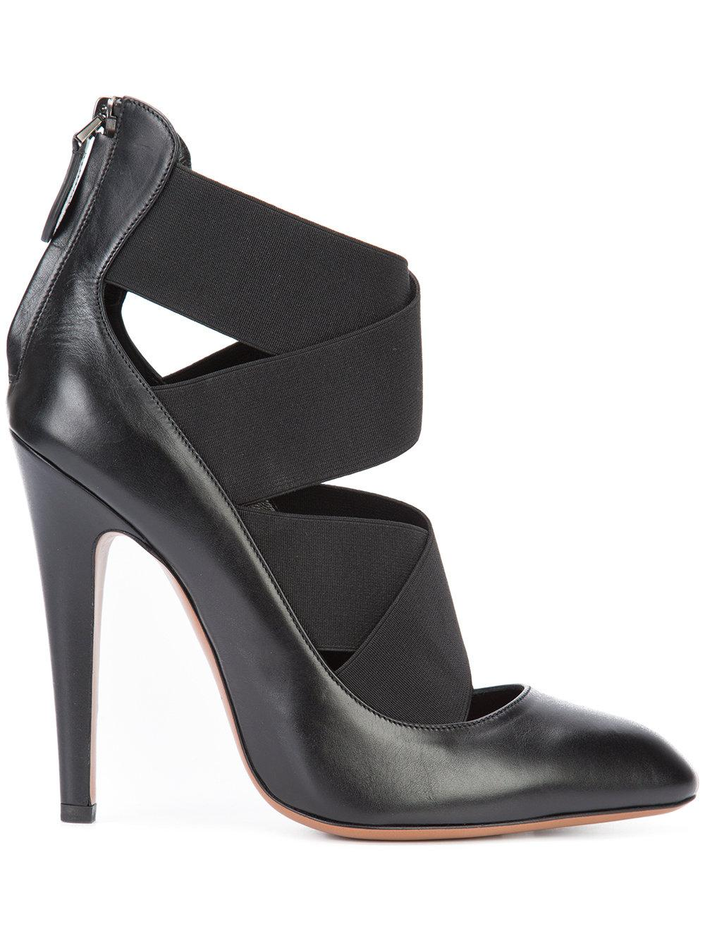 Crossover Leather High Heel Shoes