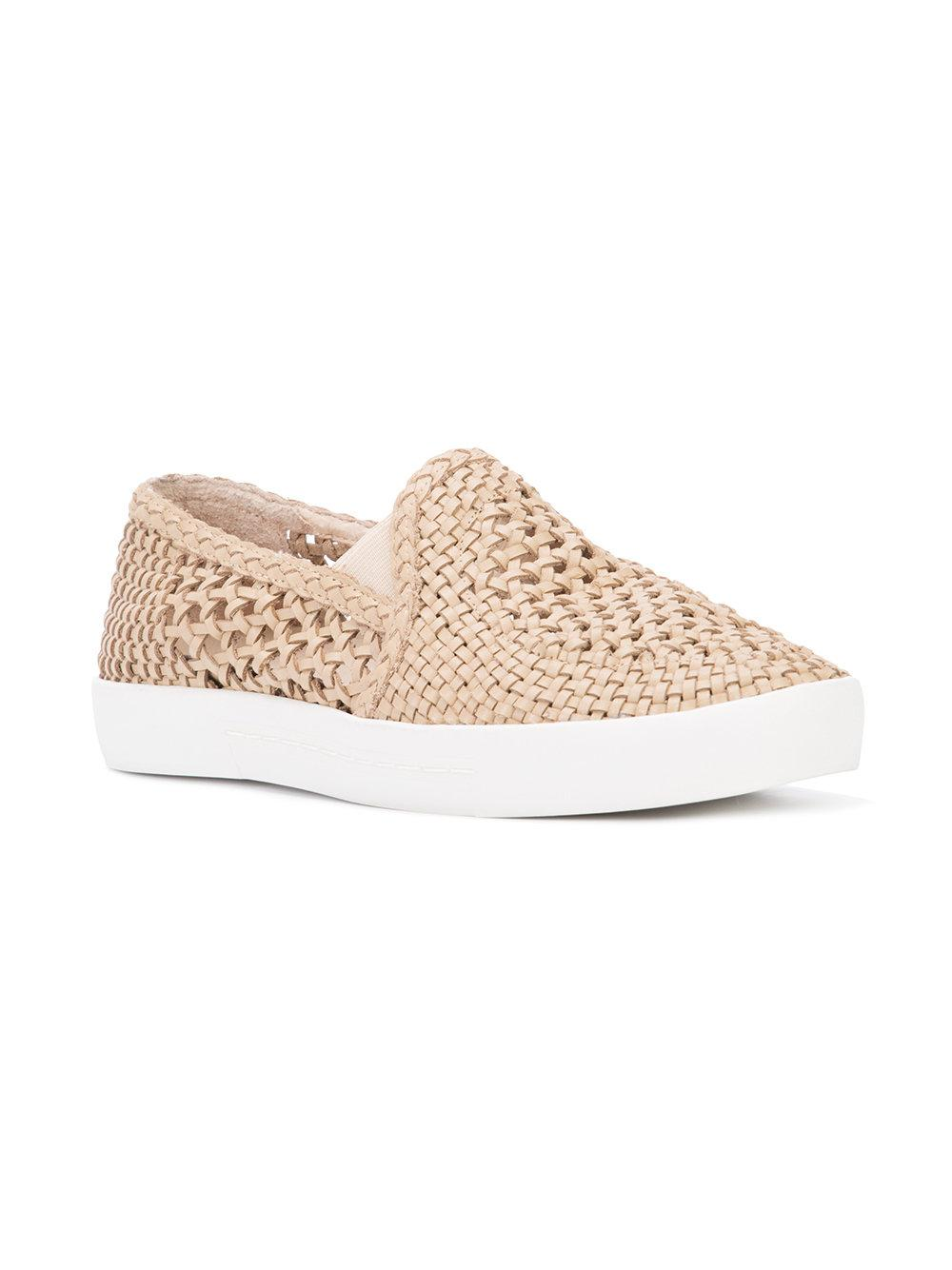 Joie Leather Dewey Slip-on Sneakers in Natural