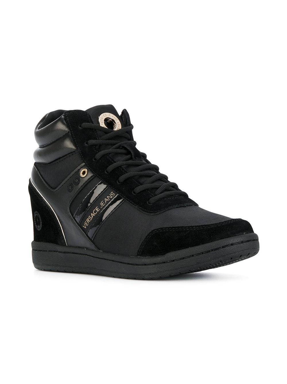 5ffd3da13352 Lyst - Versace Jeans Concealed Wedge Sneakers in Black for Men