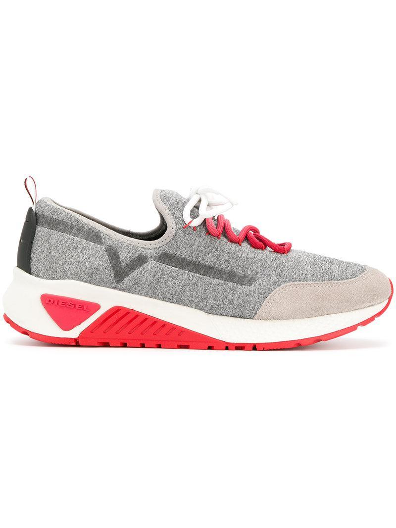 Diesel Suede S Kby Sneakers In Grey Gray For Men Lyst
