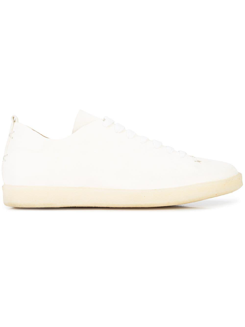 Silvano Sassetti Leather Classic Low-top Sneakers in White