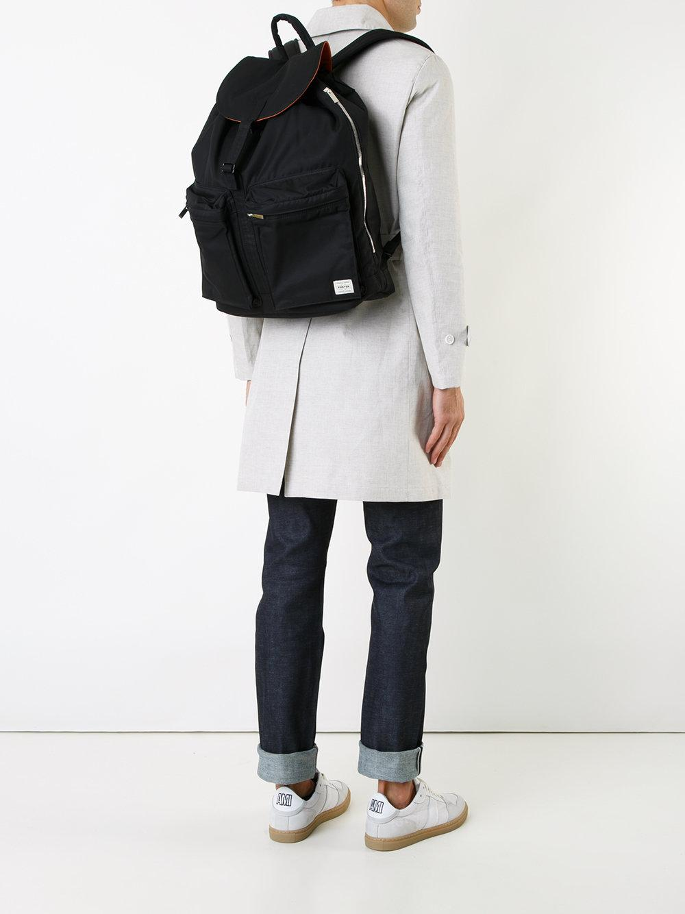 Mackintosh porter backpack in black for men lyst for Men a porter