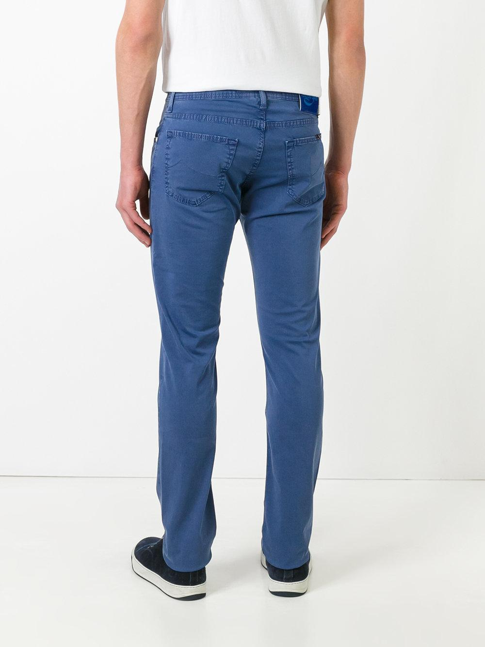 Jacob Cohen Cotton Slim-fit Trousers in Blue for Men
