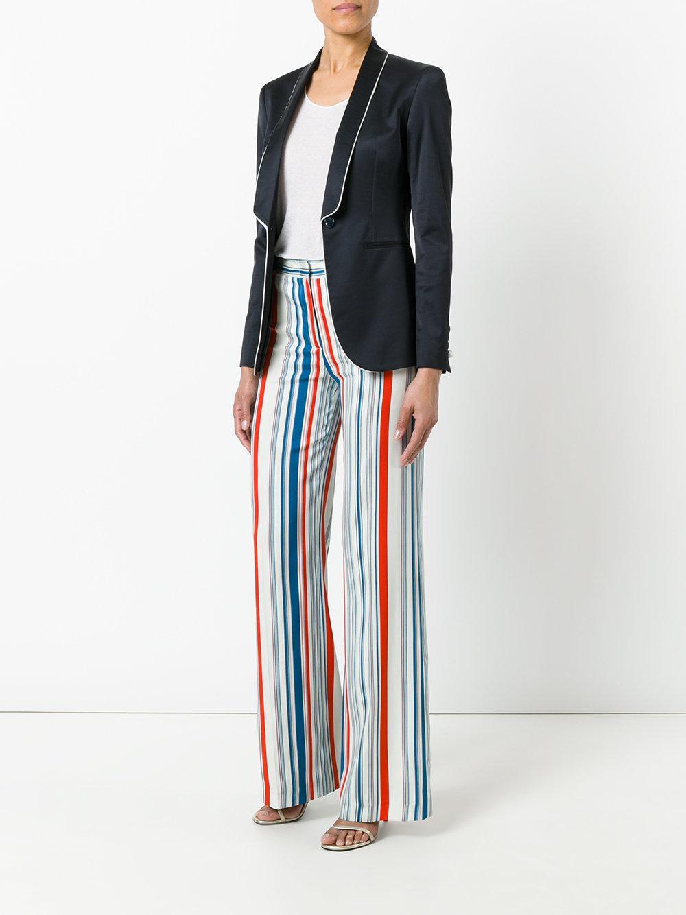 Tonello Striped Trousers In White Lyst